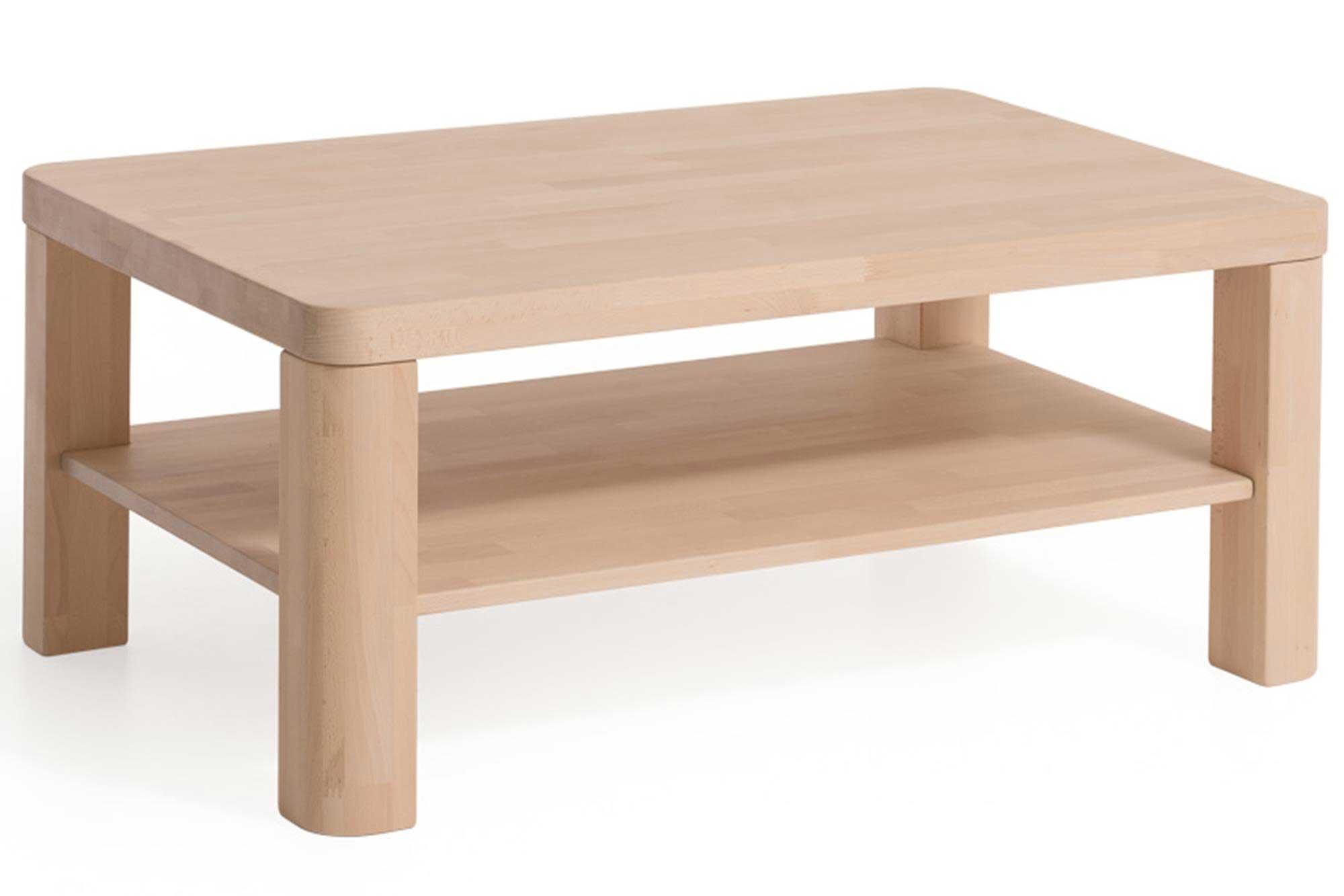 Dico Massivholz Couchtisch buche 110x70 cm