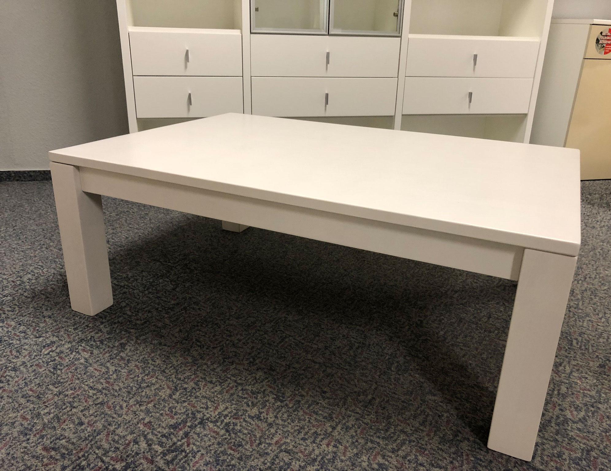 Dico CT100 Massivholz Couchtisch weiß 120x80 cm