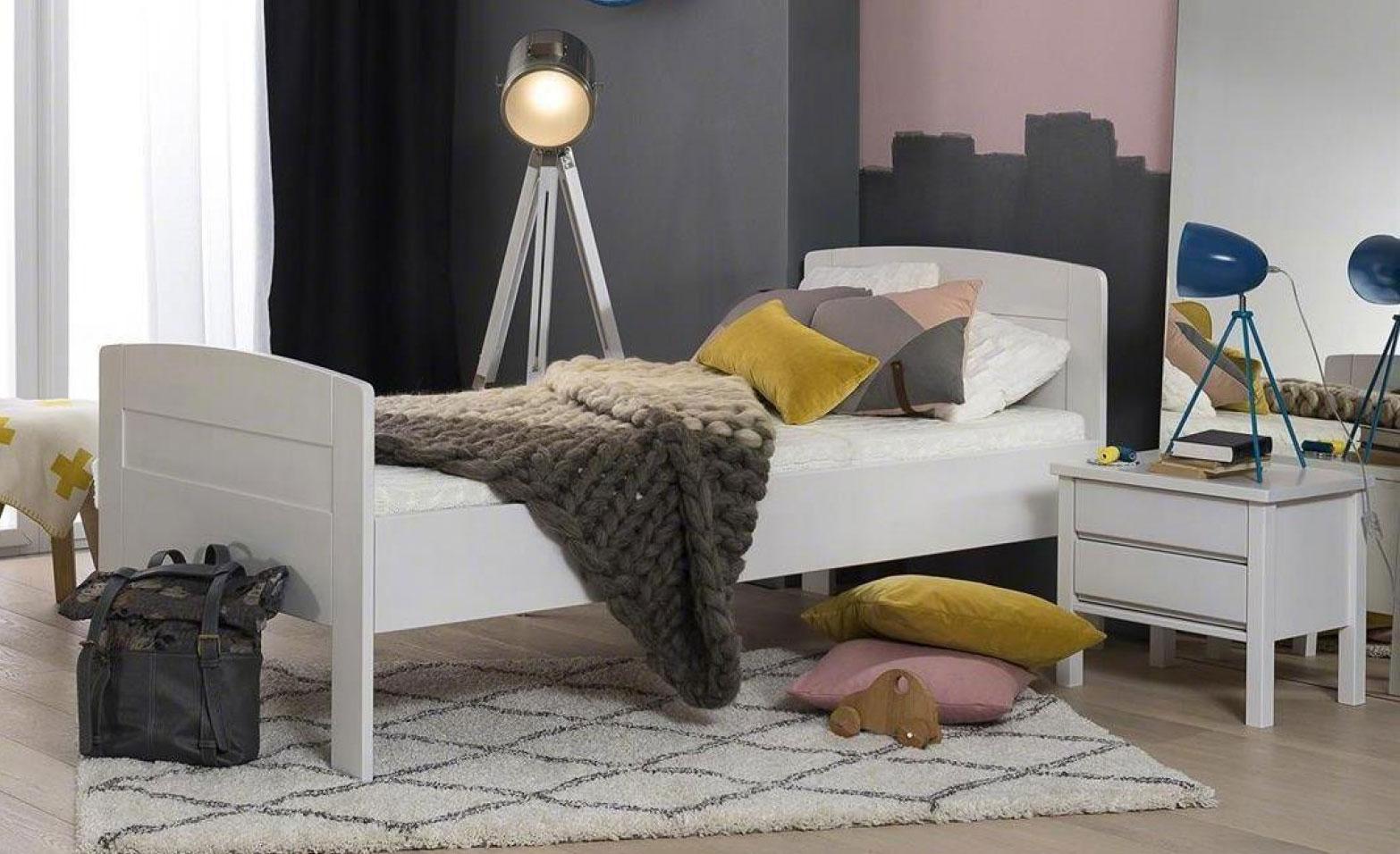 Dico Komfortbett 430 Massivholz weiß