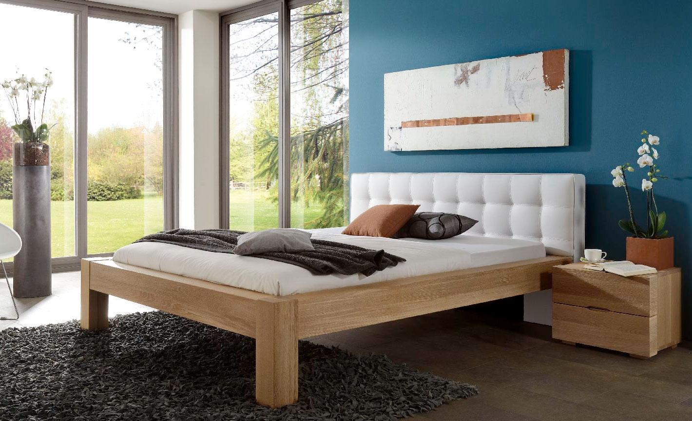 Dico Select Holzbett massiv mit Polsterkopfteil