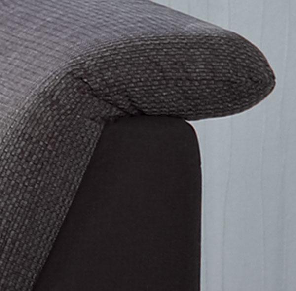 Das Bild zeigt ein Kopfteil verstellbar von der Polstergarnitur Cortina.