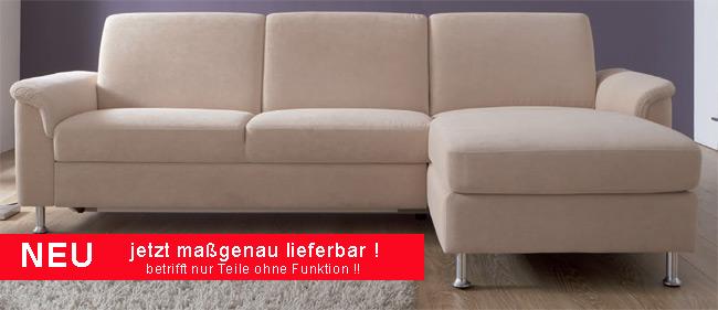 Das Bild zeigt ein Davina Sofa mit Ottomane von Dietsch Polstermöbel.