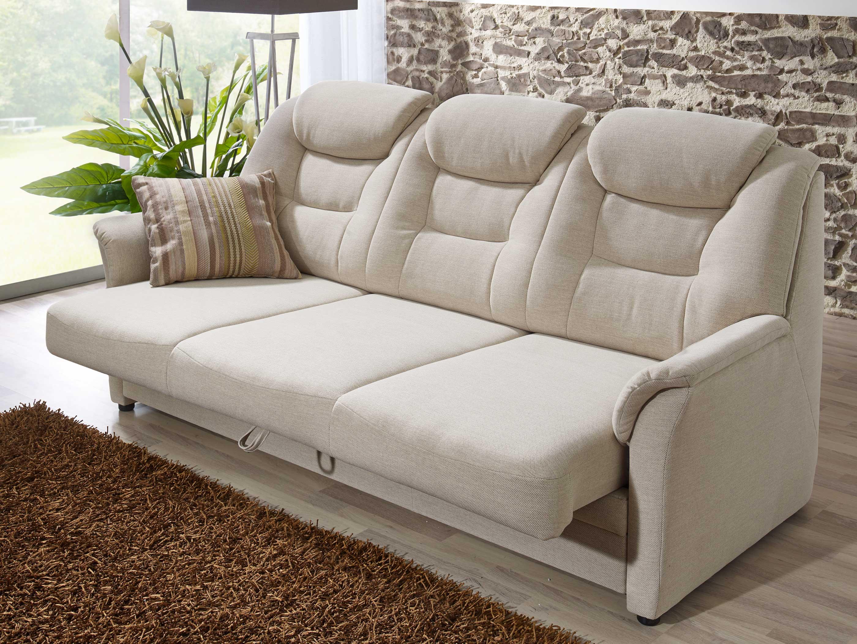 Dietsch Kiel 3Sitzer Sofa mit Sitztiefenverstellung