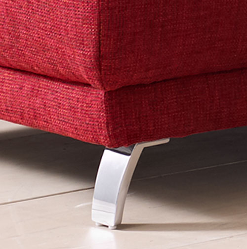 Das Bild zeigt einen Metallfuß vom Time Sofa mit Recamiere.