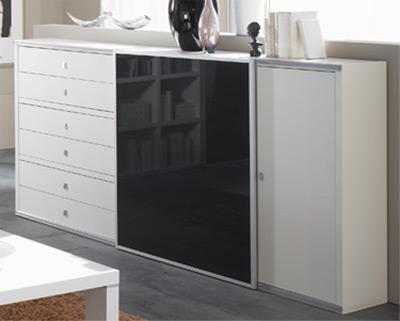 Toro modernes Sideboard mit Schiebetüren und Schubladen