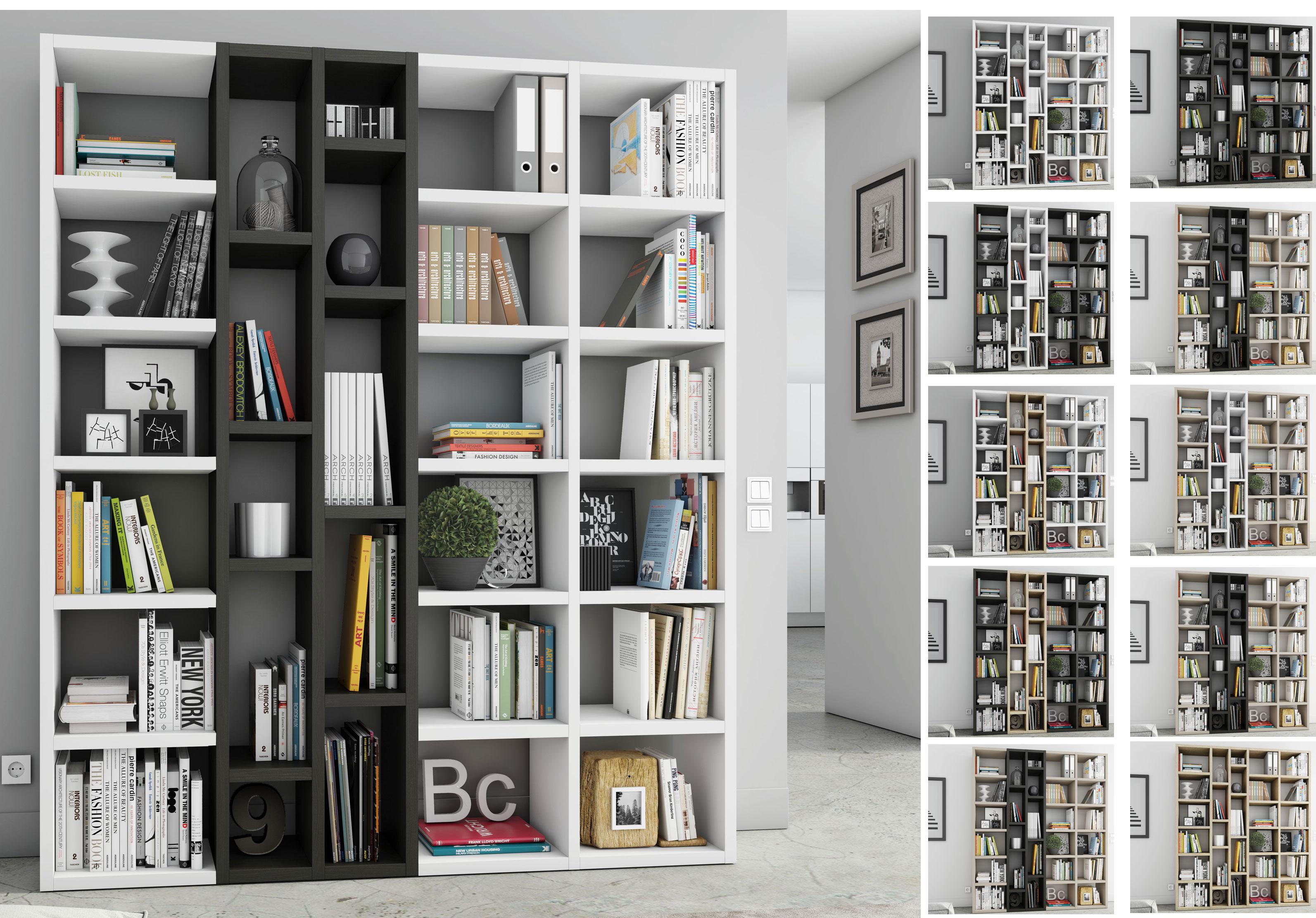 Toro Bücherregal in vielen Farben