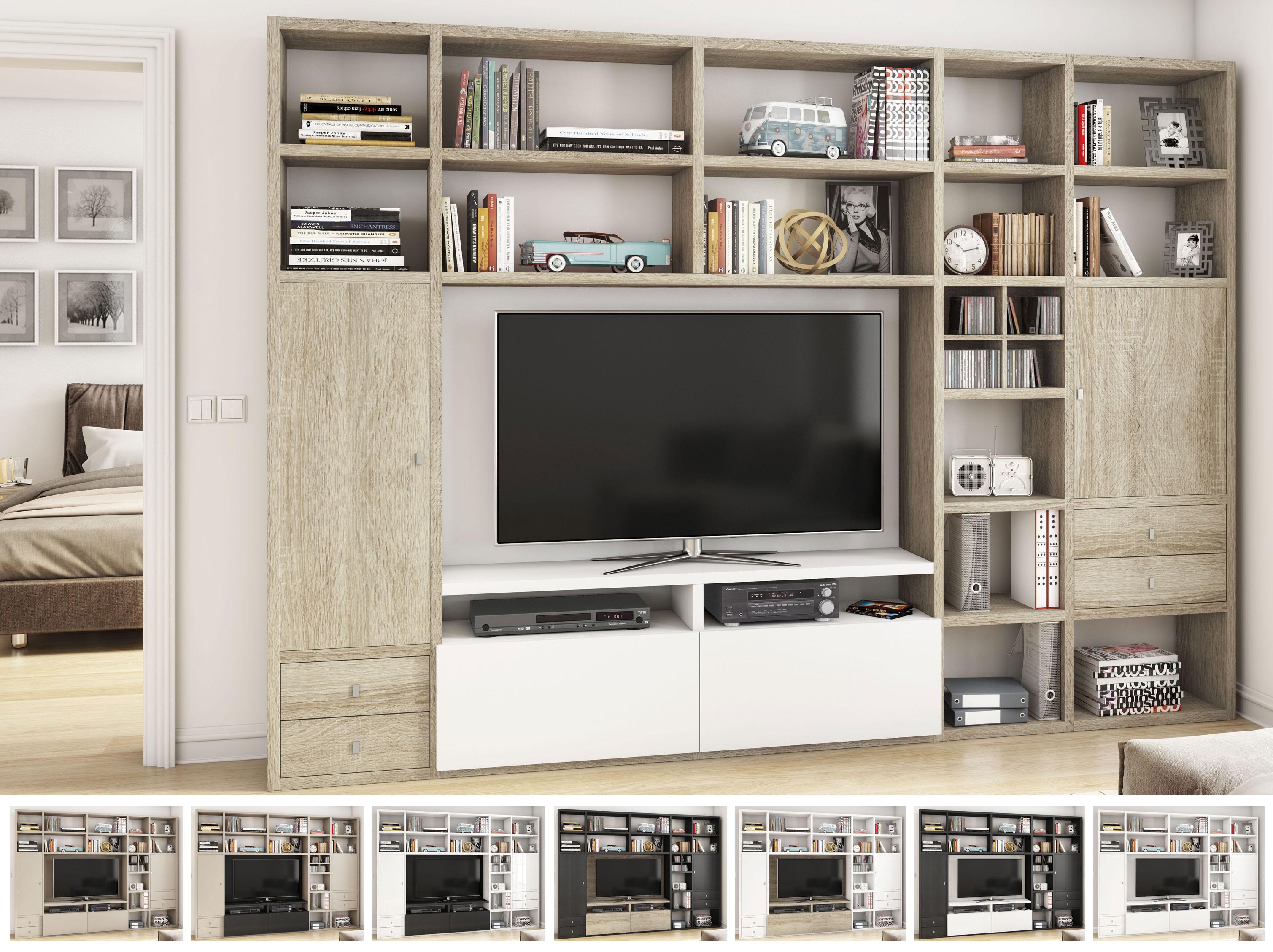 Toro Wohnwand mit TV-Fach in vielen Farben