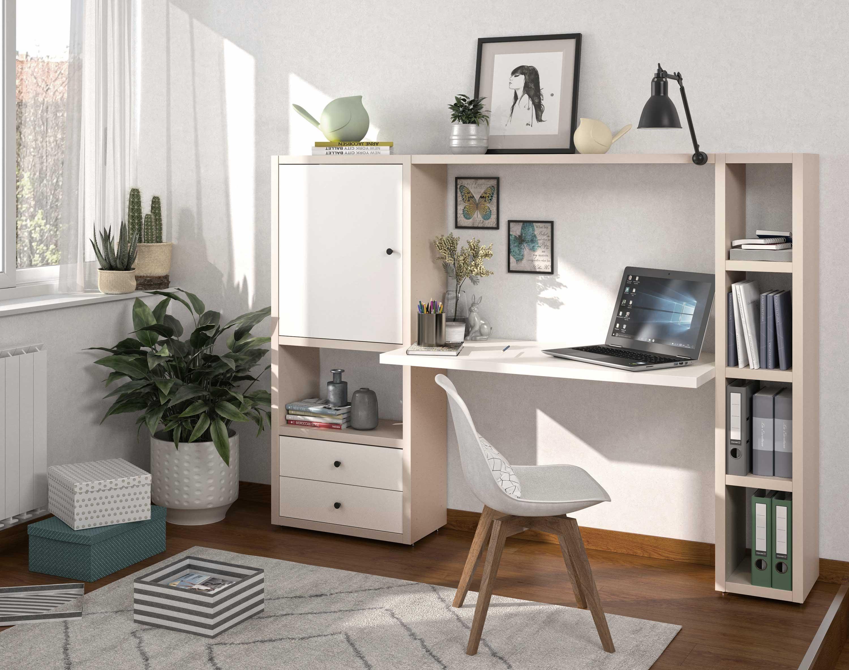 Toro Regalsystem mit integriertem Schreibtisch