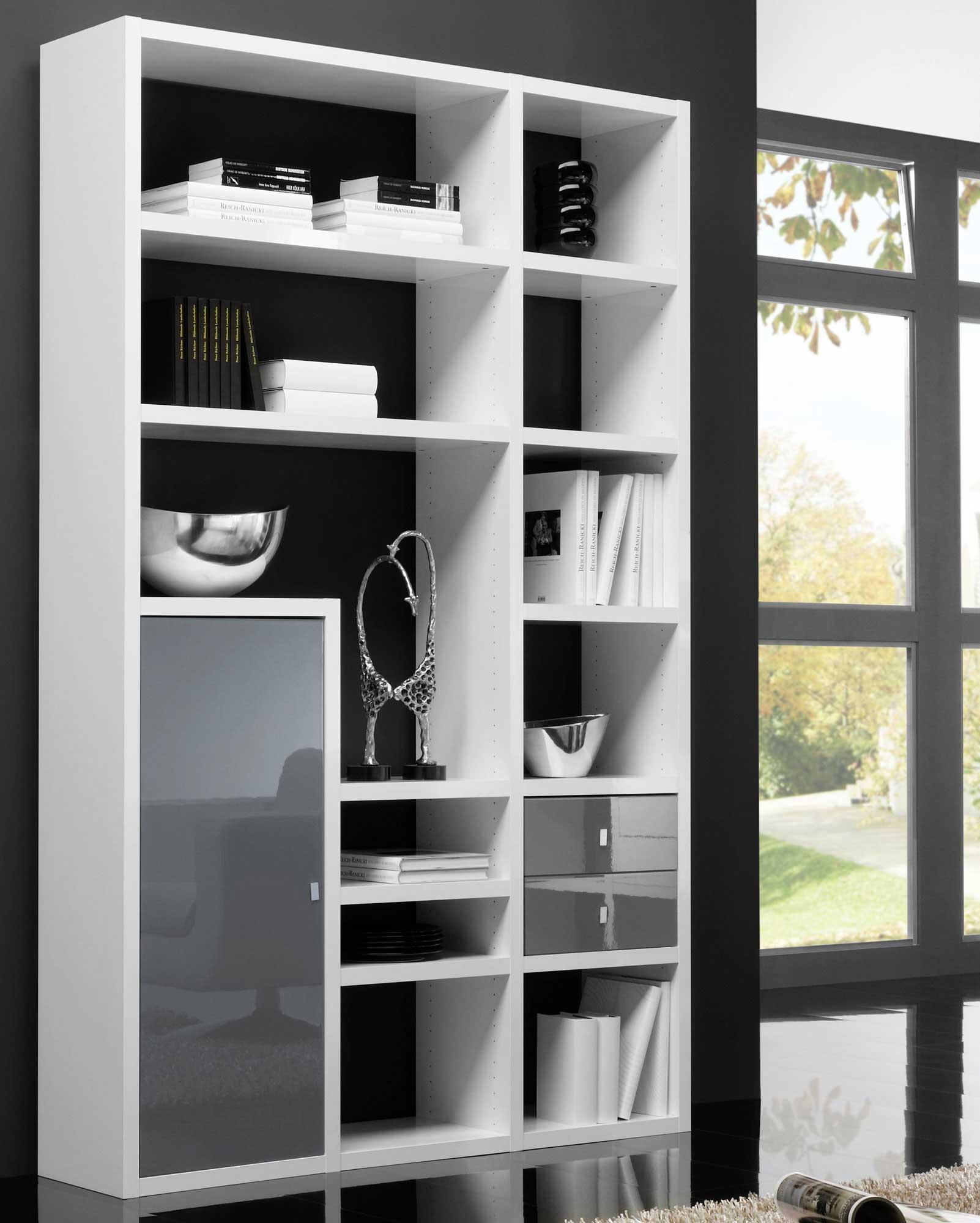 Toro Bücherregal eiche mit Türen und TV Fach