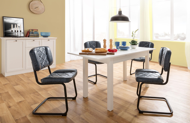 Tischgruppe mit Esstisch weiß