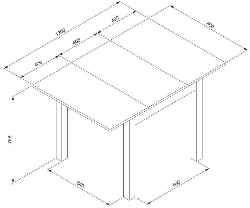 Küchentisch 80x80 cm