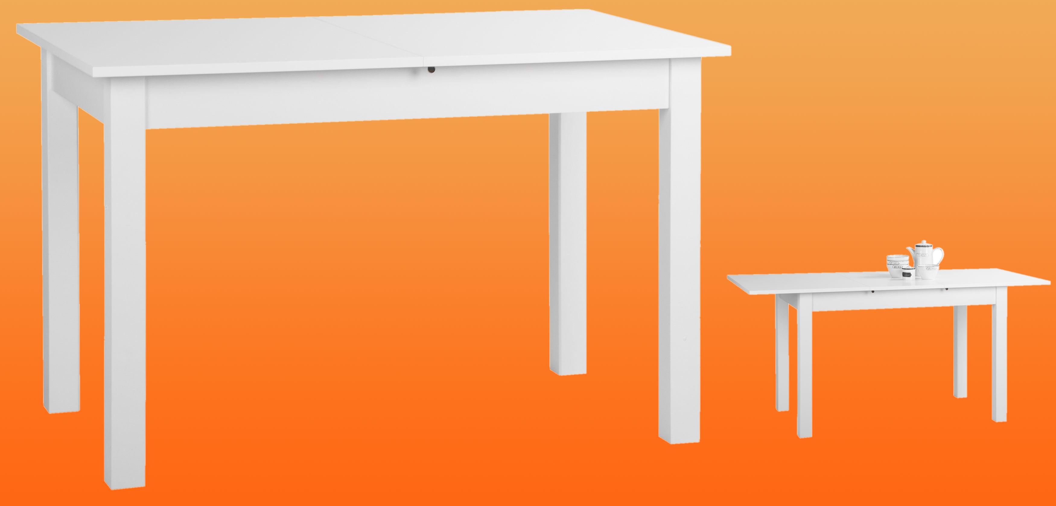 Küchentisch weiß 120x80 cm ausziehbar