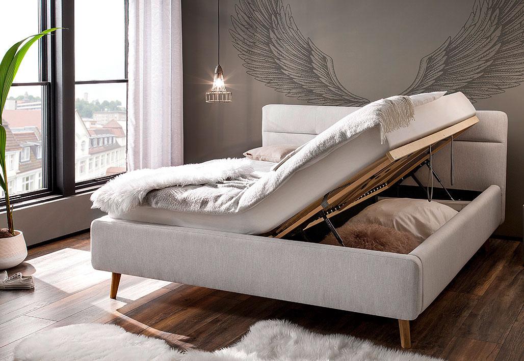 Meise Lotte Polsterbett mit Bettkasten 180x200 cm