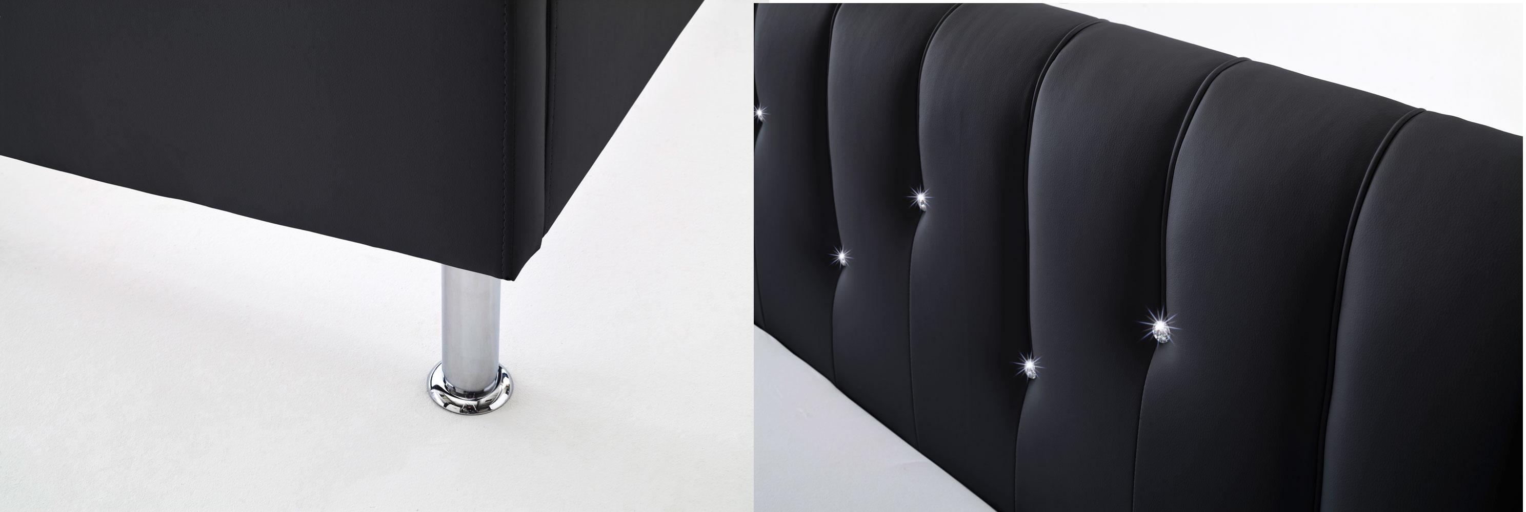 Meise Rapido Polsterbett schwarz Details