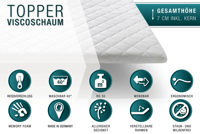Meise Viscoschaum Topper