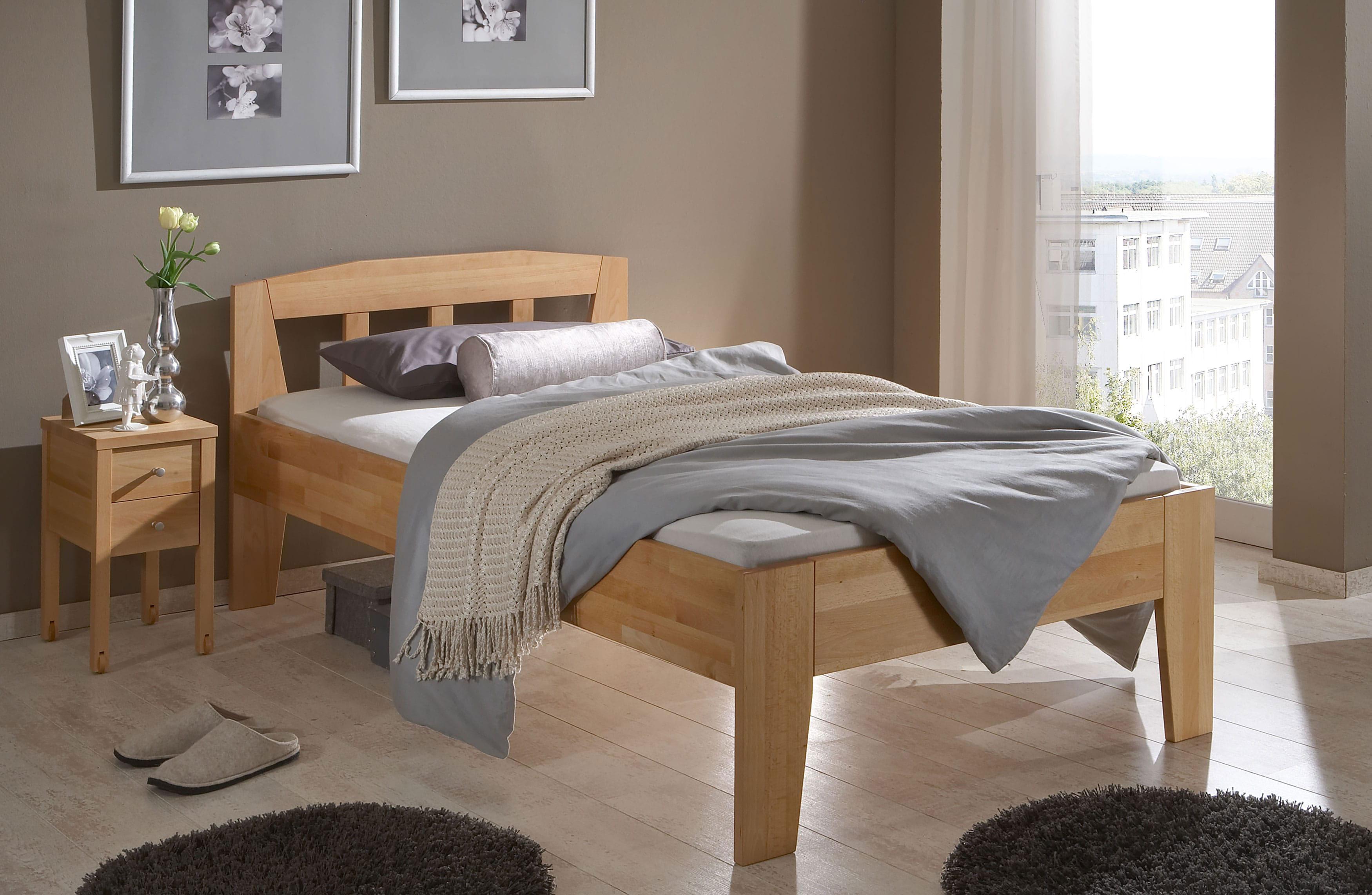 Komfortbett massiv buche ohne Fußteil