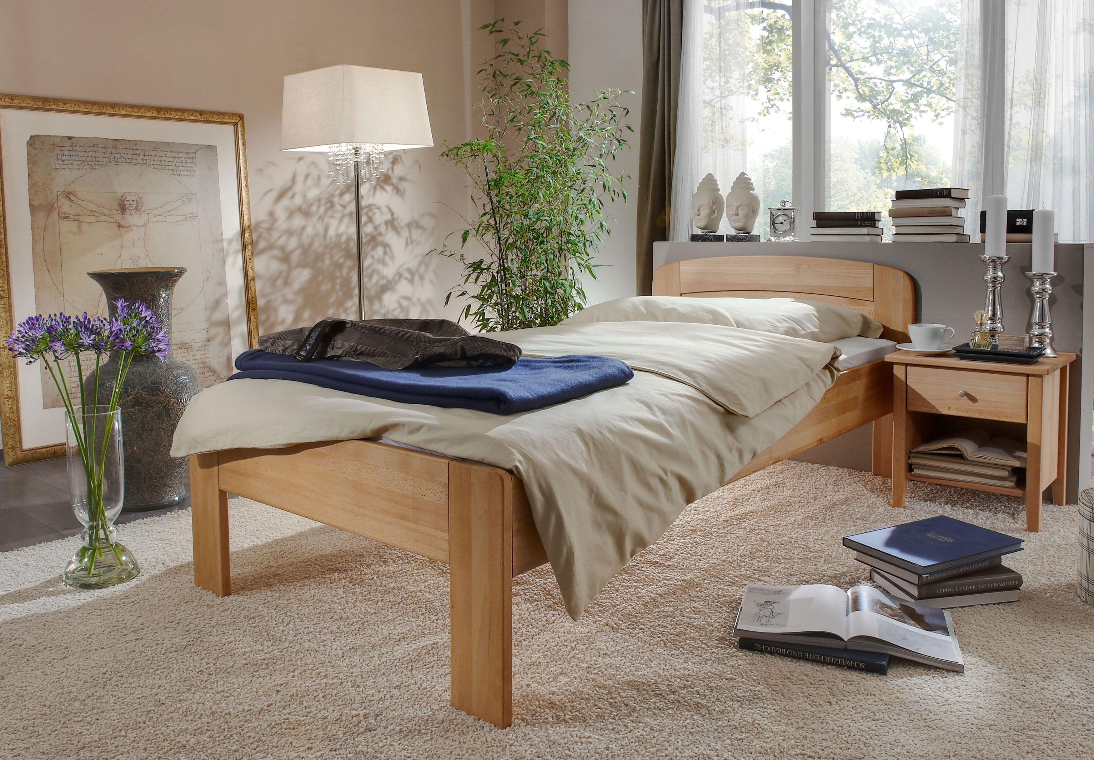 Komfortbett Massivholz buche ohne Fußteil