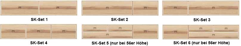 Massivholzbett Schubkastenvarianten