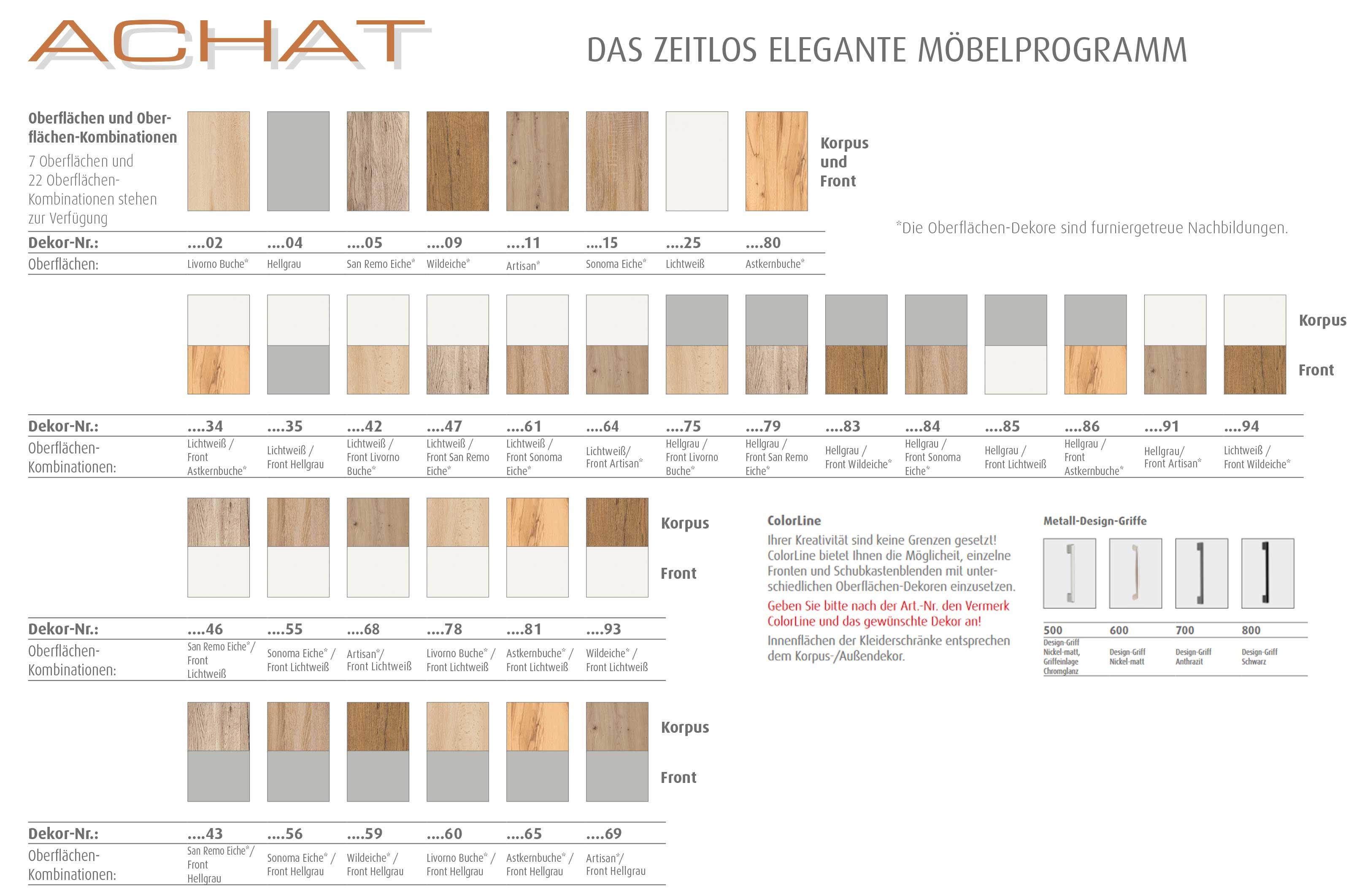 Priess Achat Farbvarianten