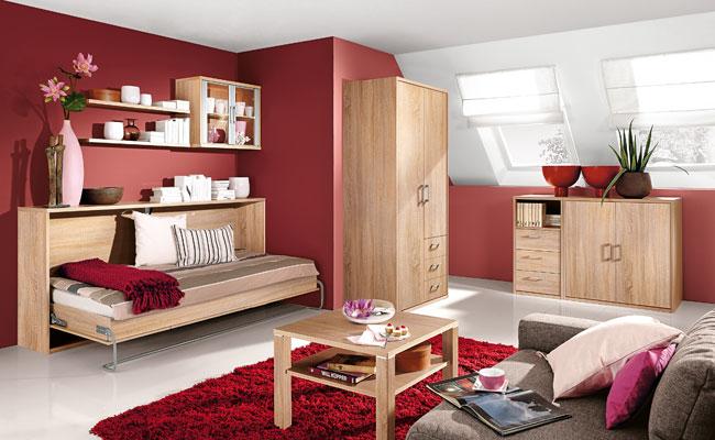 Priess Achat Einrichtung Gästezimmer mit Schrankbett