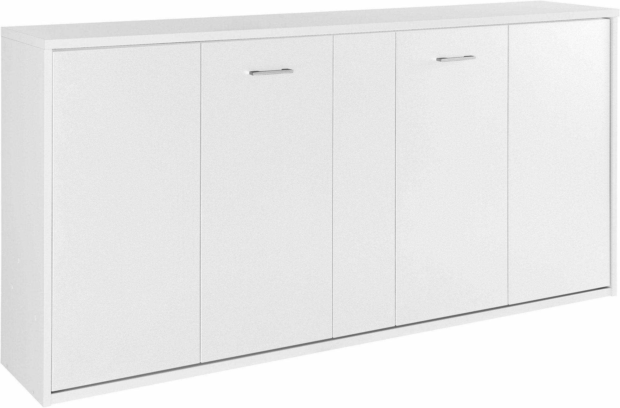 Priess Achat Schrankbett 90x200 cm weiß