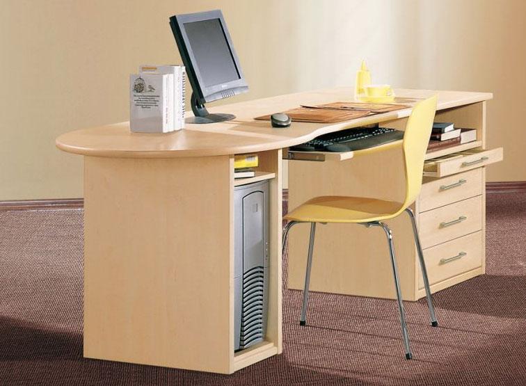 Priess Achat Computer-Schreibtisch ahorn