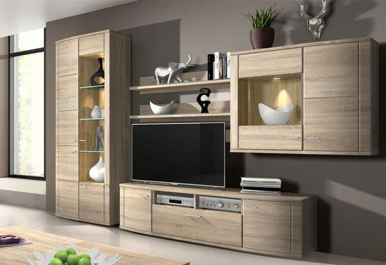 RMI Siena moderne Wohnzimmer Schrankwand eiche Dekor