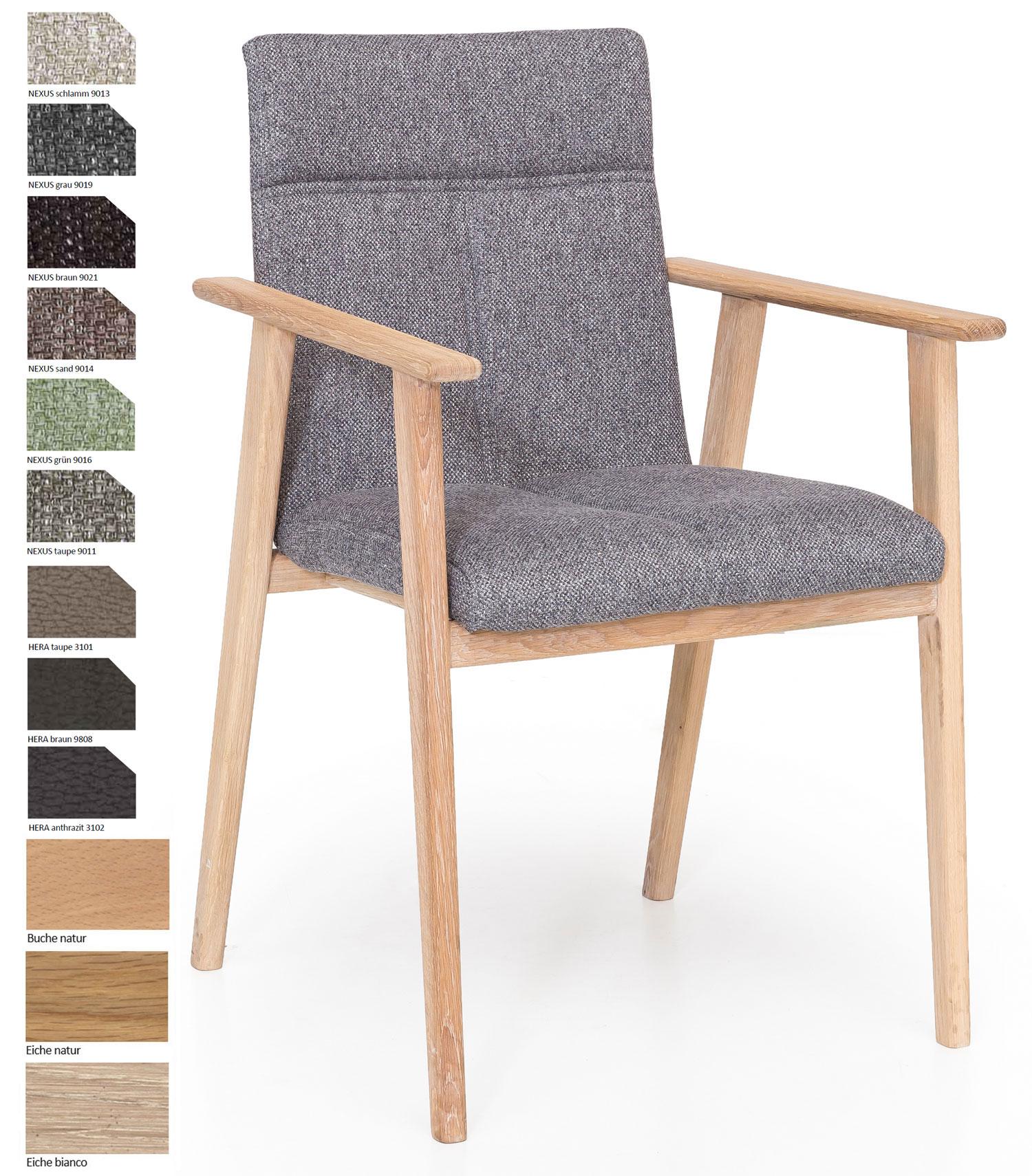 Standard Furniture Alina Armlehnstuhl eiche / grau