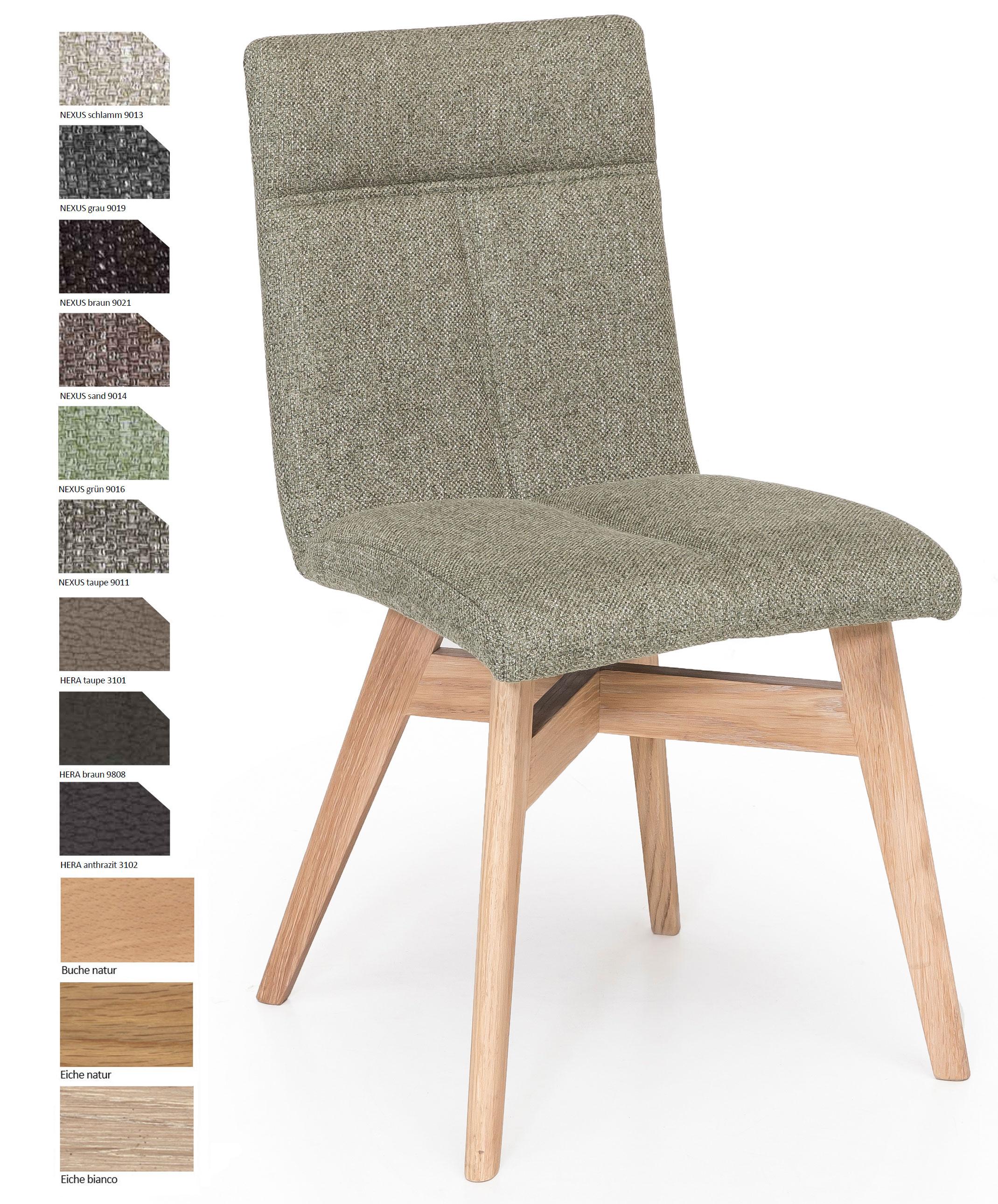 Standard Furniture Alina Polsterstuhl eiche / grau
