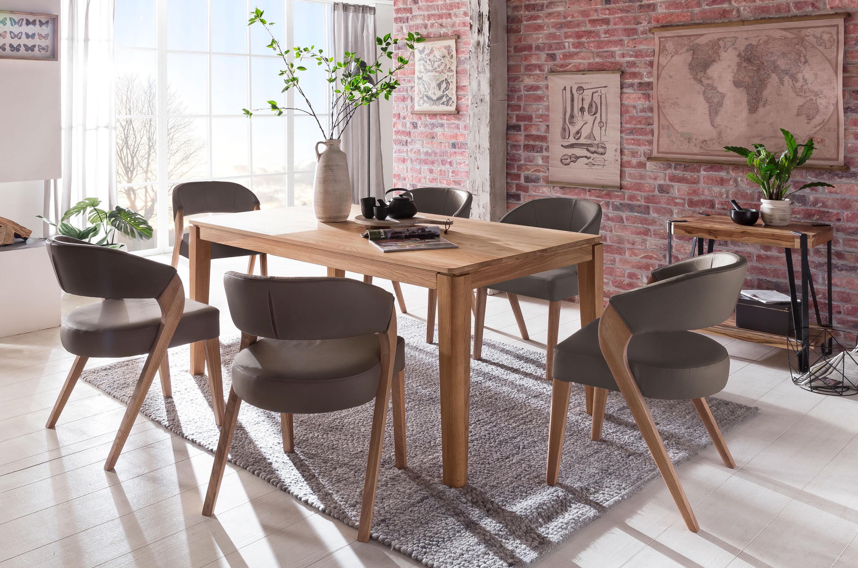 Standard Furniture Essgruppe mit Polsterstühlen Almada und Tisch Houston