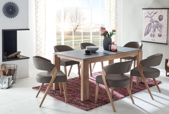 Standard Furniture Essgruppe mit Tisch Manzano und Stühlen Almada