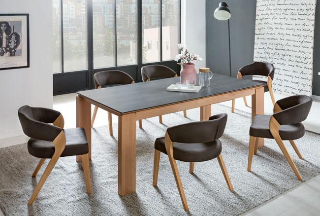 Standard Furniture Tischgruppe mit Tisch Manzano und Stühlen Almada