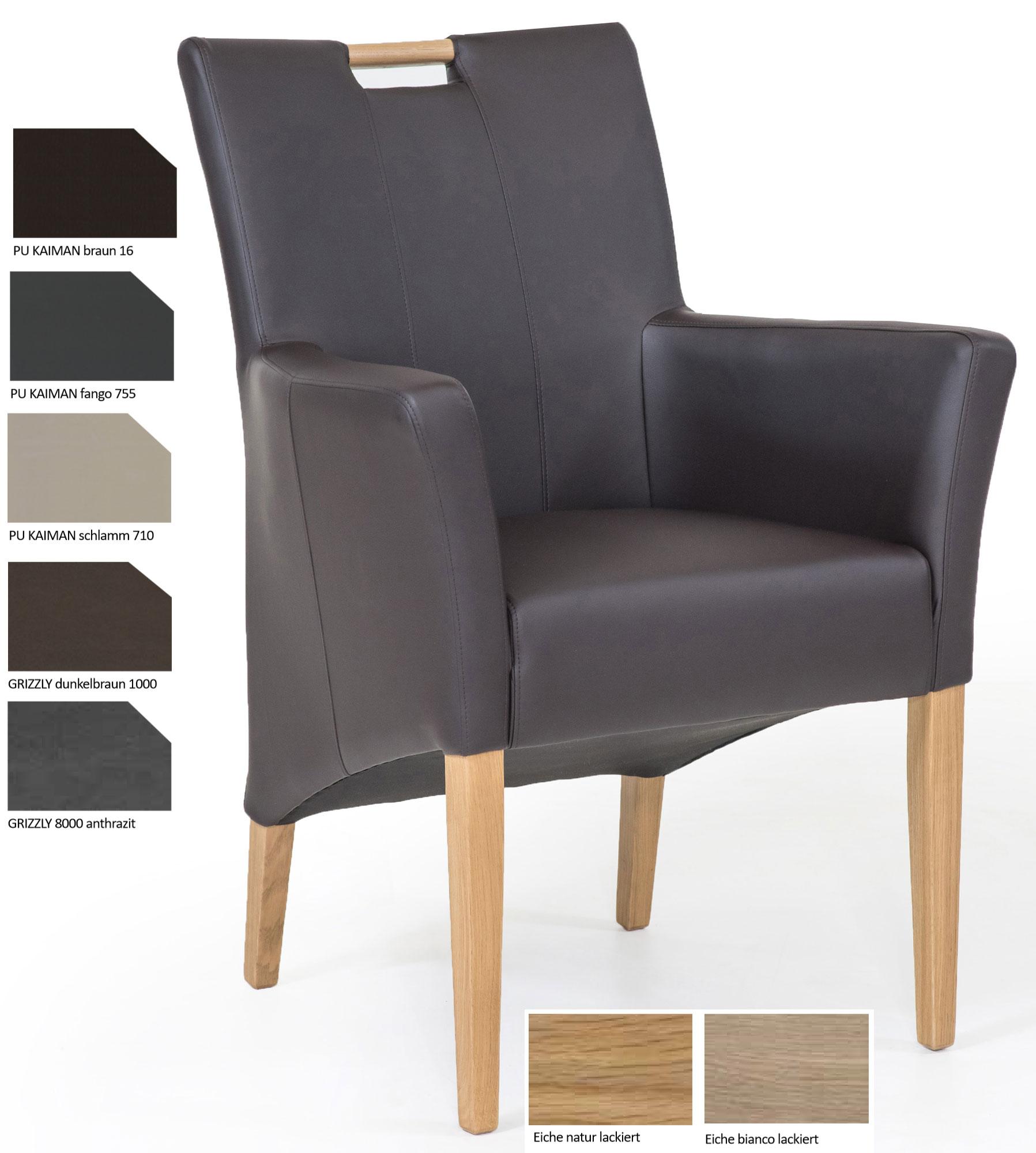 Standard Furniture Bastian Stuhlsessel Kunstleder grau
