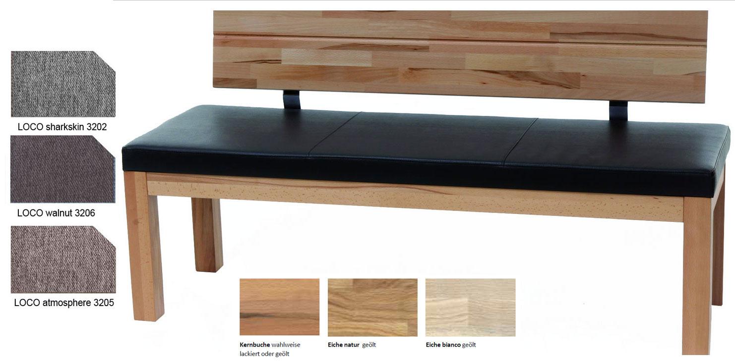 Standard Furniture Catania Eckbank massiv kernbuche mit Polster