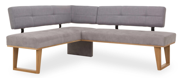 Standard Furniture Colmar moderne Eckbank mit eiche Gestell silbergrau