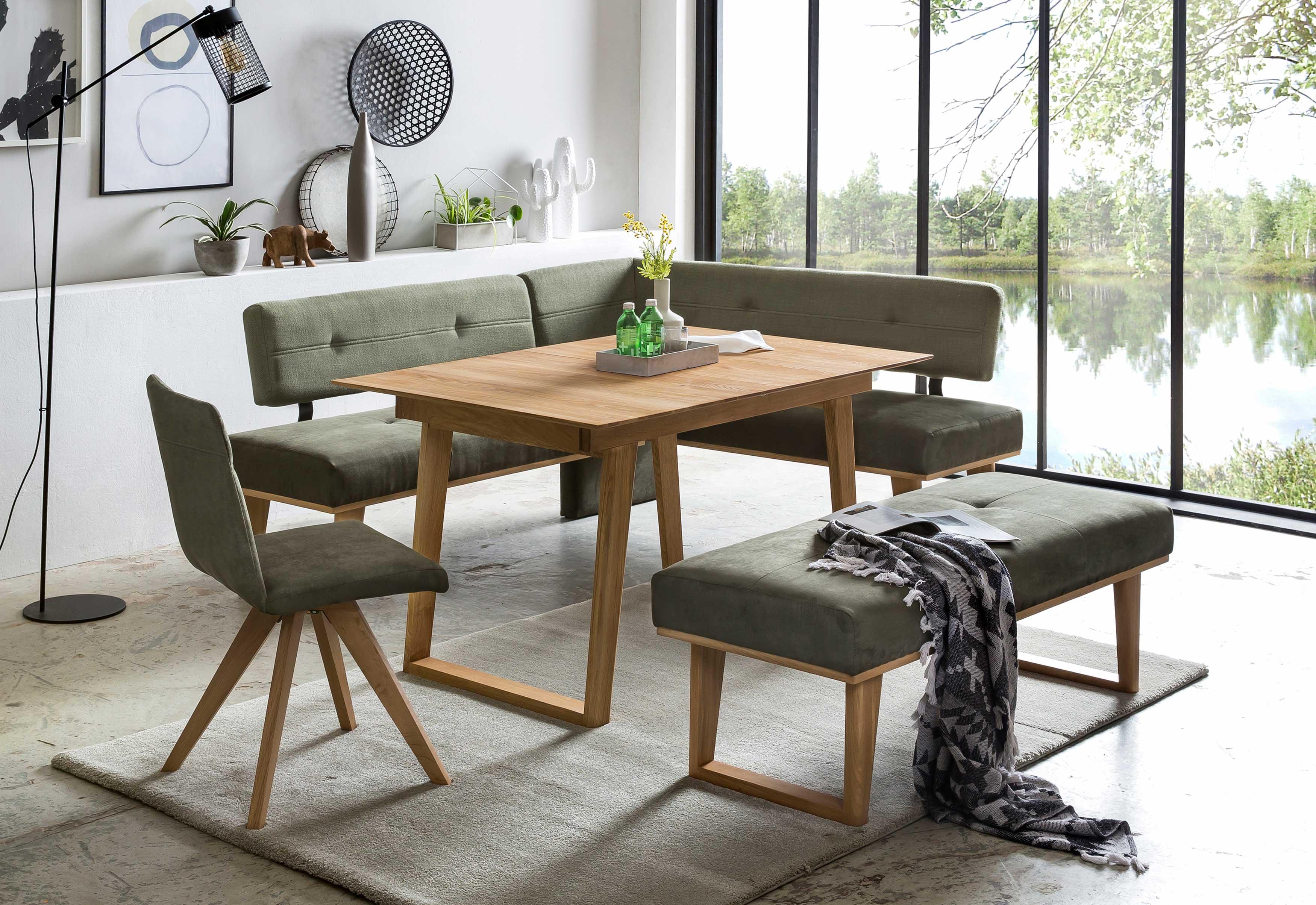 Standard Furniture Eckbankgruppe eiche mit Eckbank Colmar und Tisch Rouen