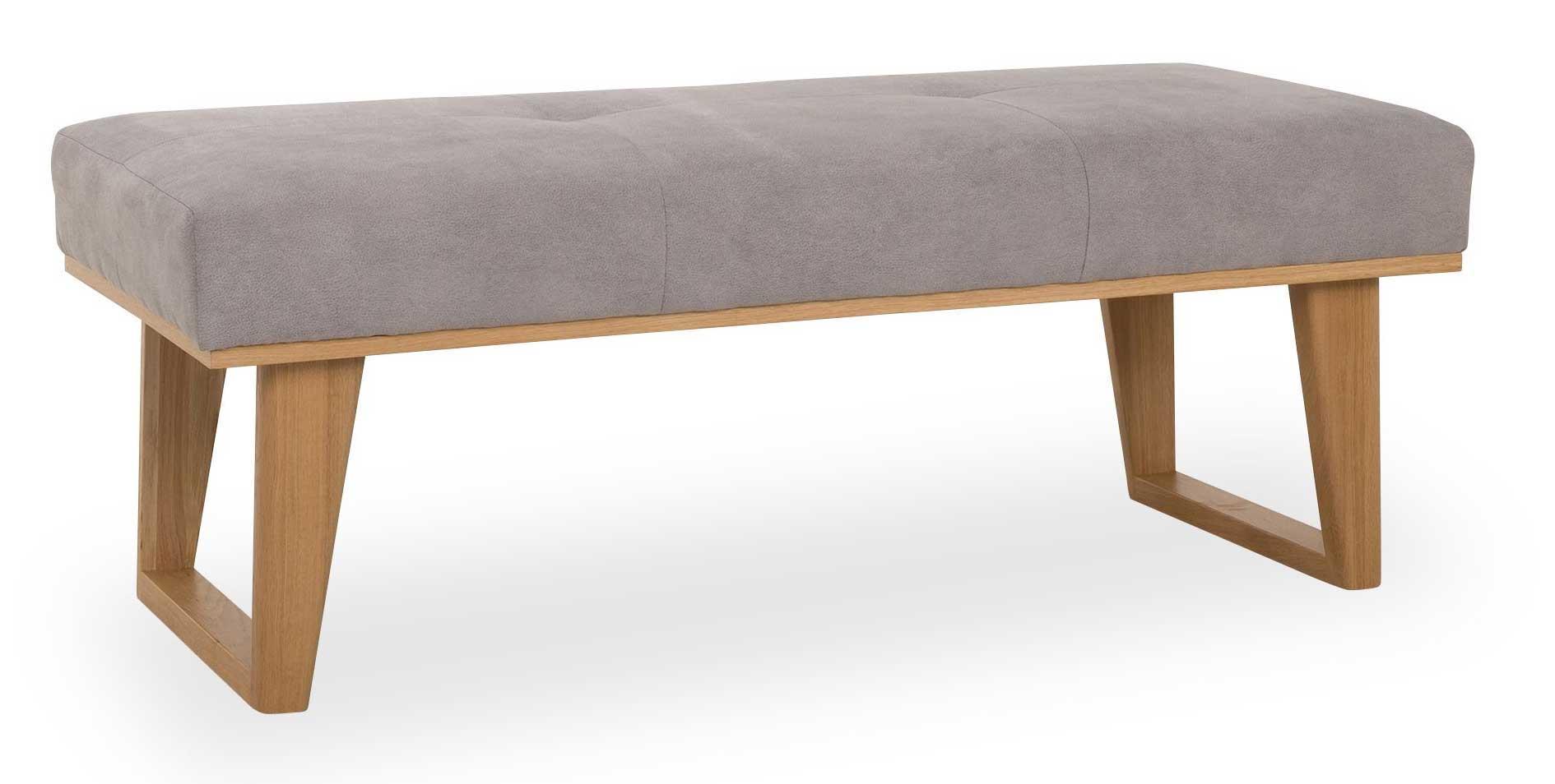 Standard Furniture Colmar Landhaus Polsterbank mit eiche Gestell silbergrau
