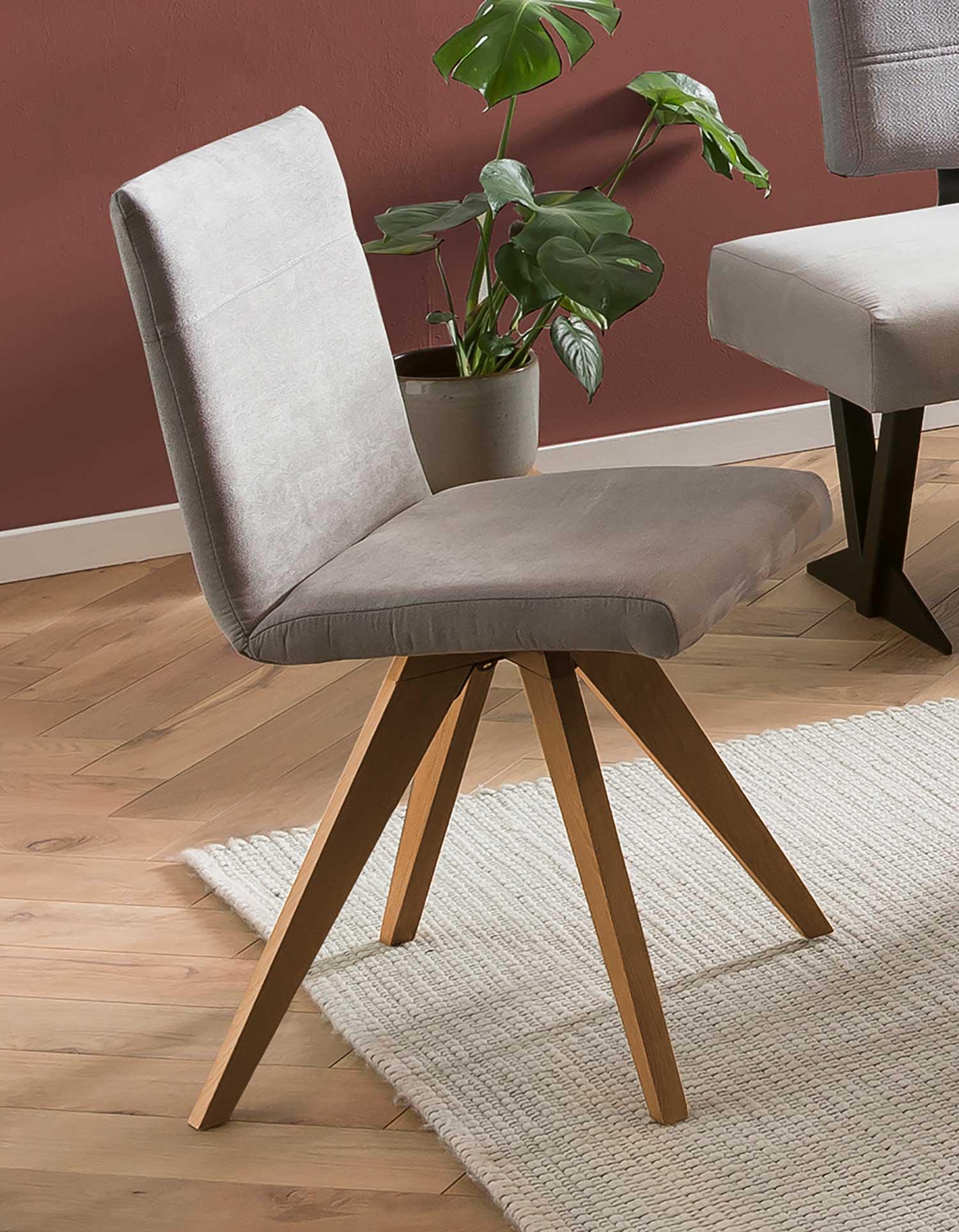 Standard Furniture Colmar Polsterstuhl mit Spiderbeinen in hellgrau