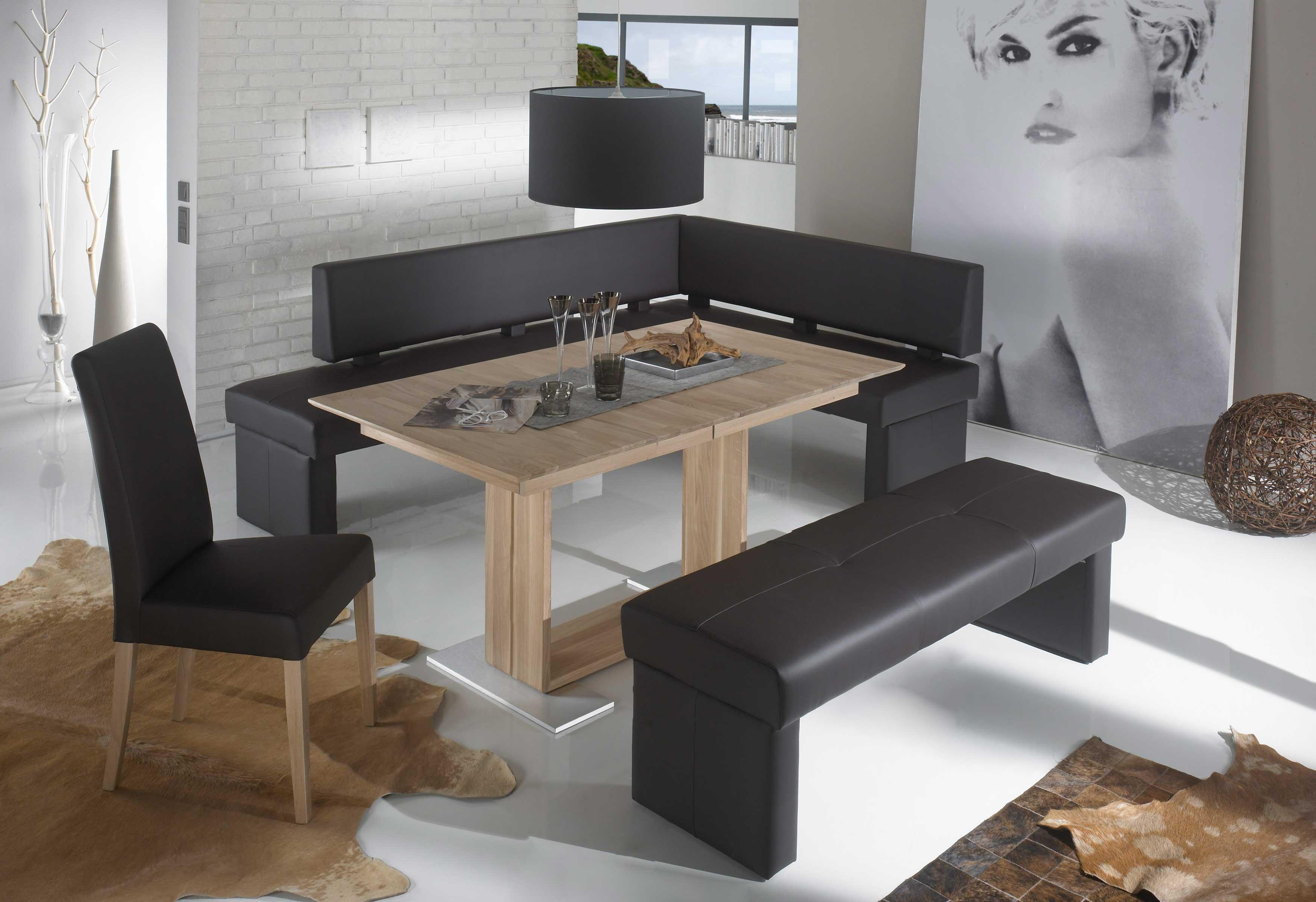 Standard Furniture Tischgruppe mit Domino Polsterbank Kunstleder