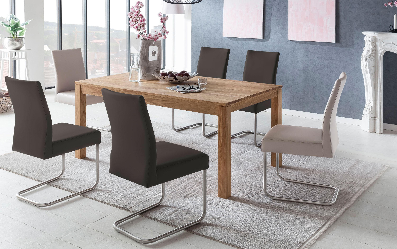 Standard Furniture Tischgruppe eiche mit Tisch Fano und Stühlen Kadira