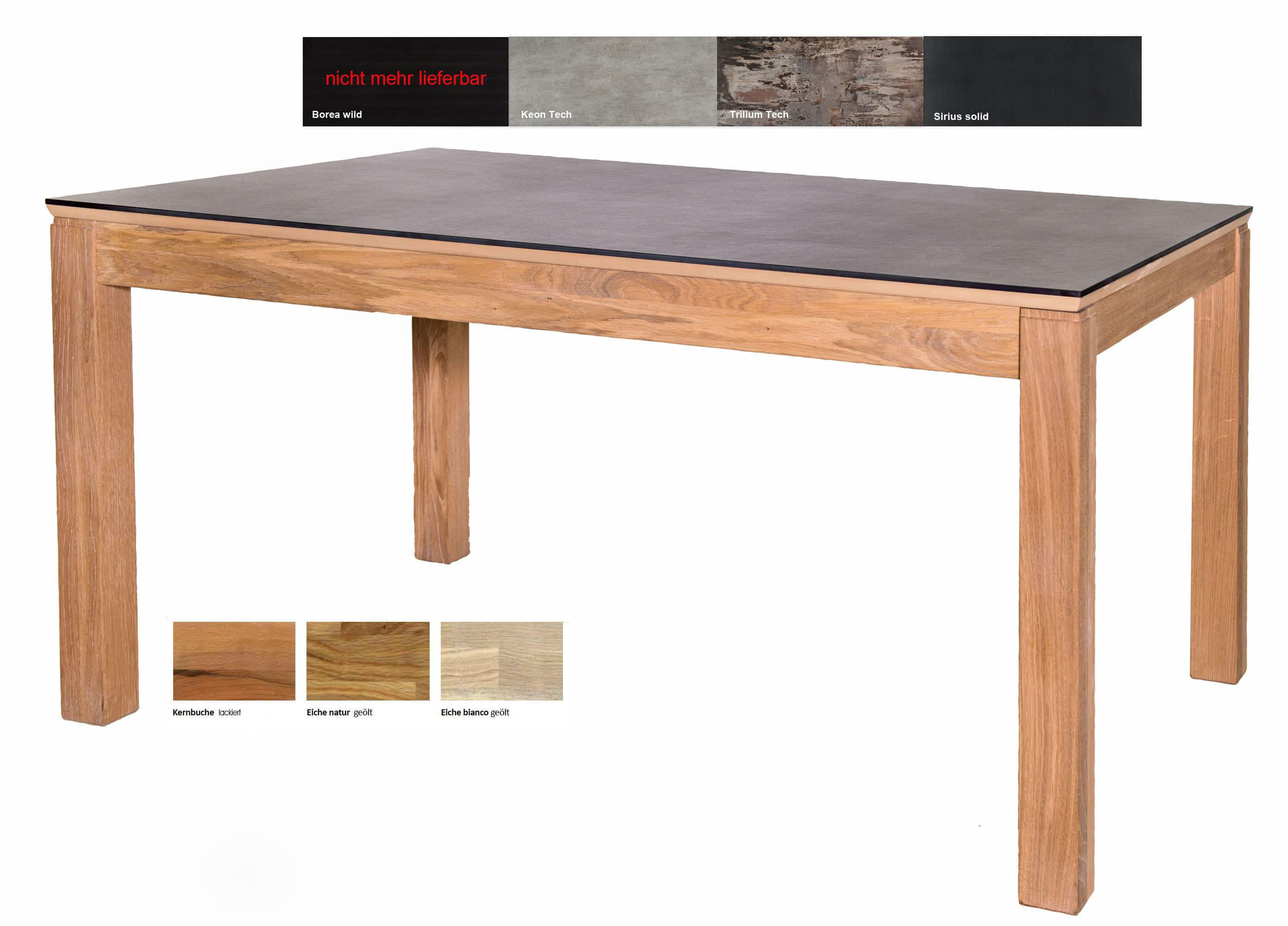 Fano Massivholztisch mit Dektonplatte extrem kratzfest
