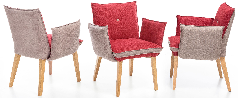 Standard Furniture Genua1 Polsterstuhl mit Armlehne rot / beige