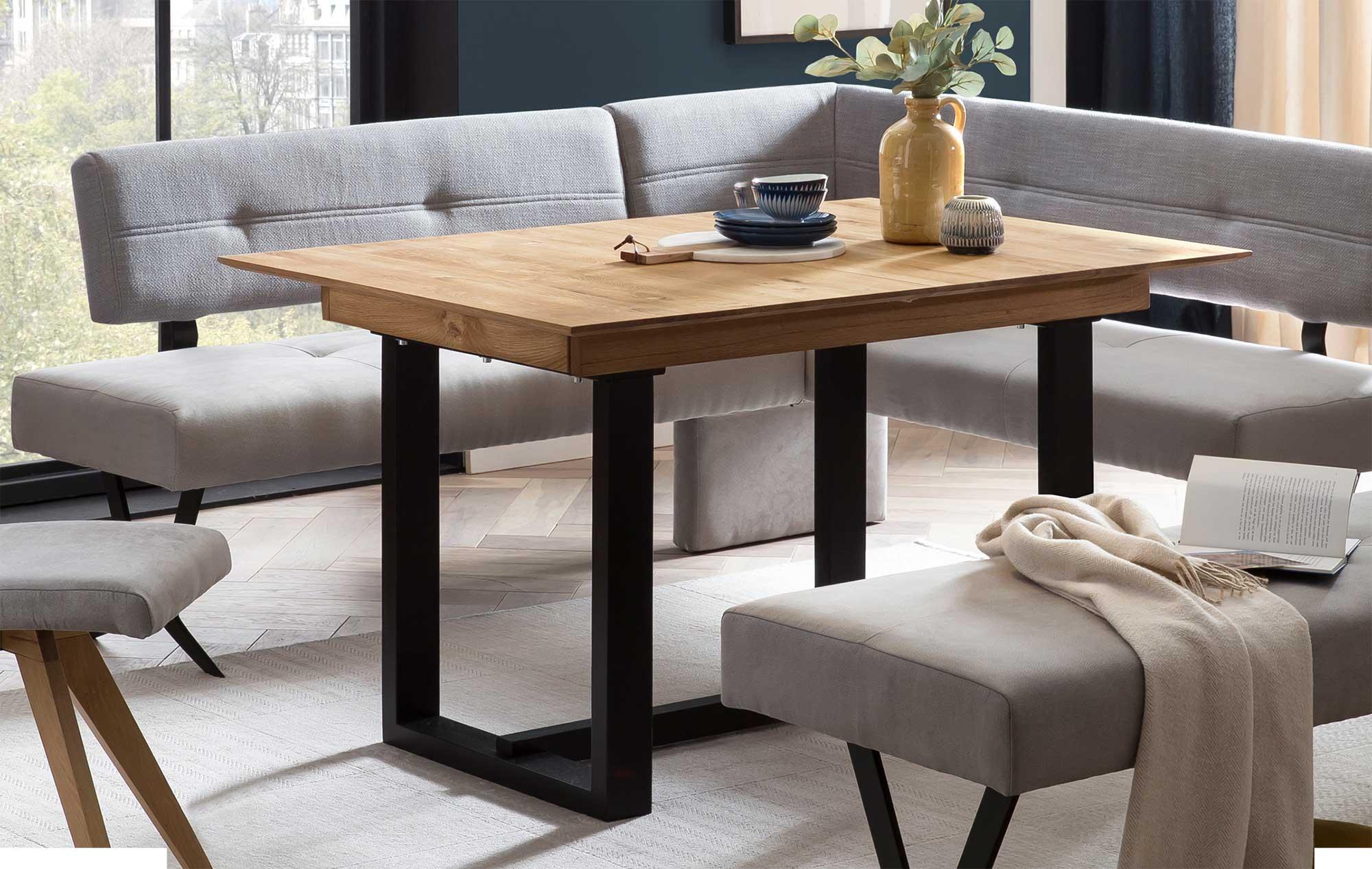Standard Furniture Gordes Massivholztisch eiche rustikal ausziehbar