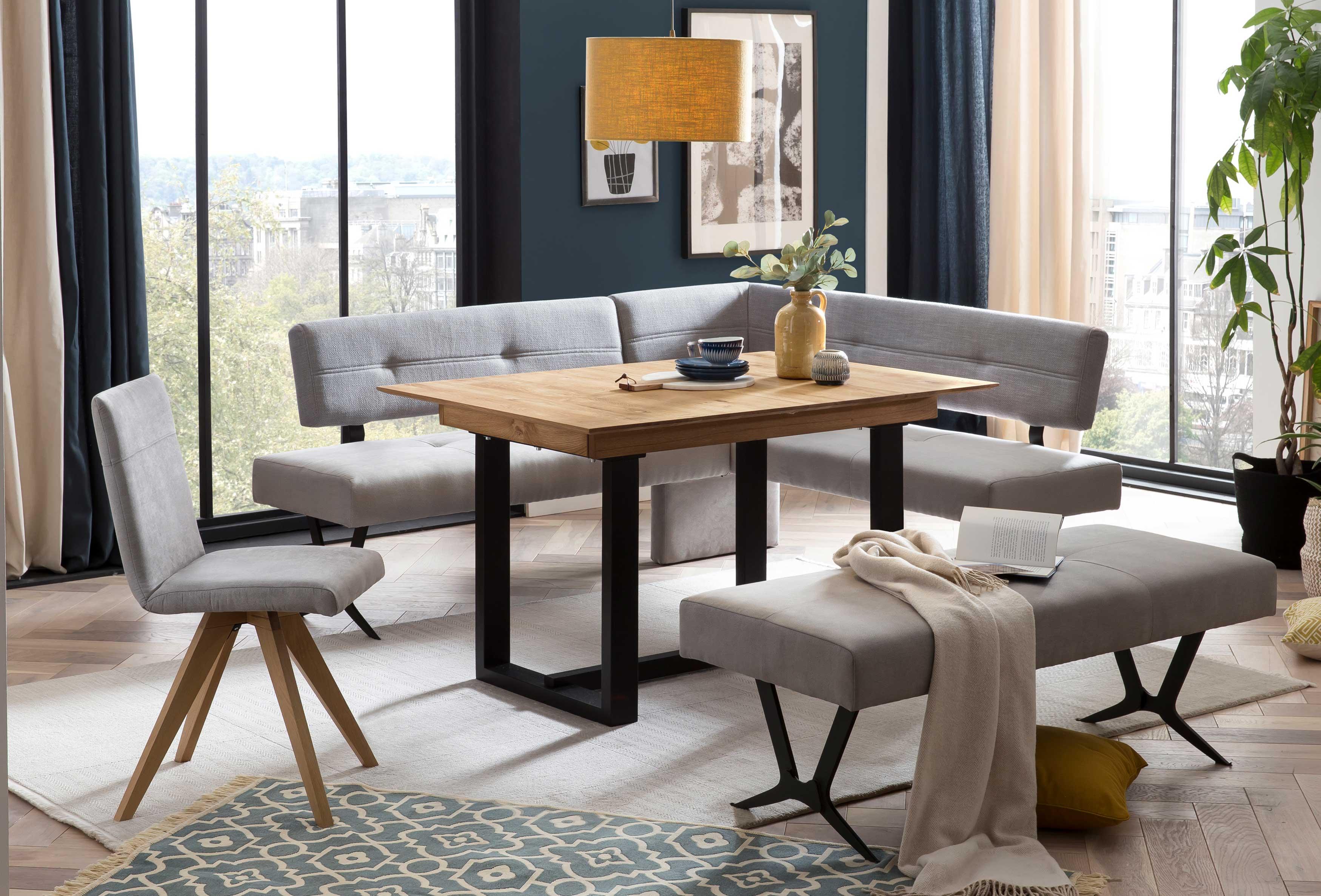 Standard Furniture Eckbankgruppe eiche rustikal mit Etienne