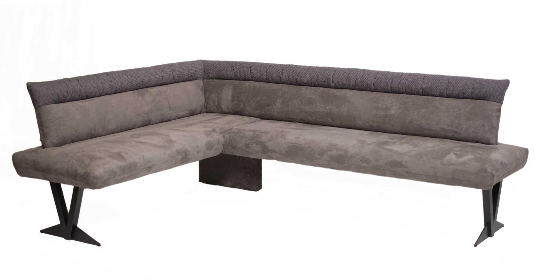 Standard Furniture Grenoble moderne Eckbank mit Metallgestell schwarz