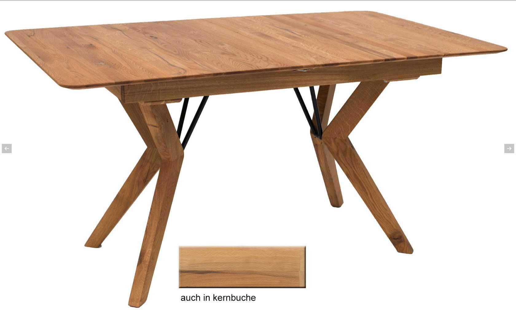 Standard Furniture Grenoble Massivholztisch eiche rustikal ausziehbar