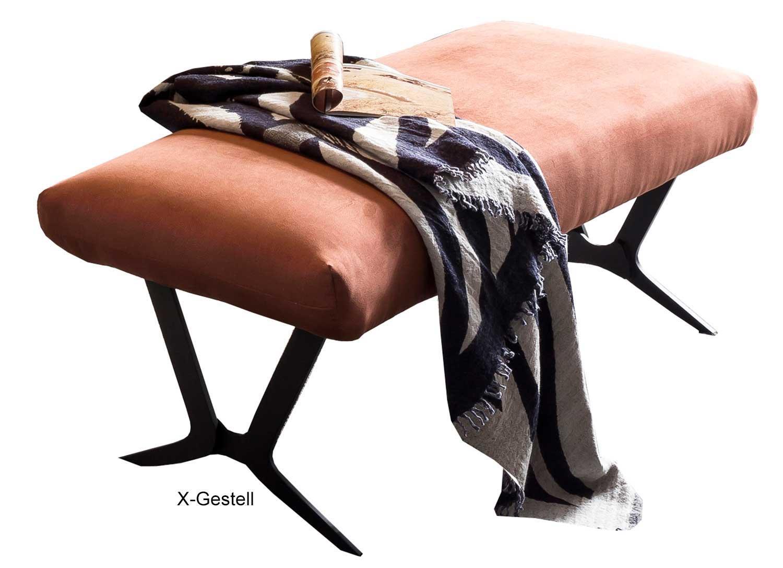 Standard Furniture Grenoble moderne Polsterbank mit Metallgestell schwarz