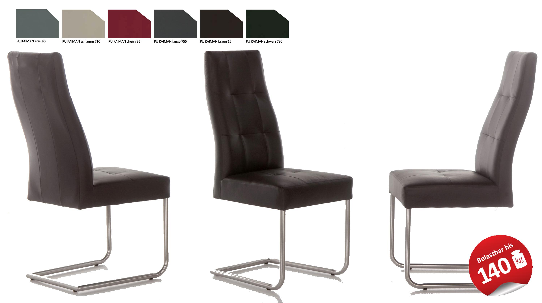 Standard Furniture Henry Schwingstuhl Kunstleder grau