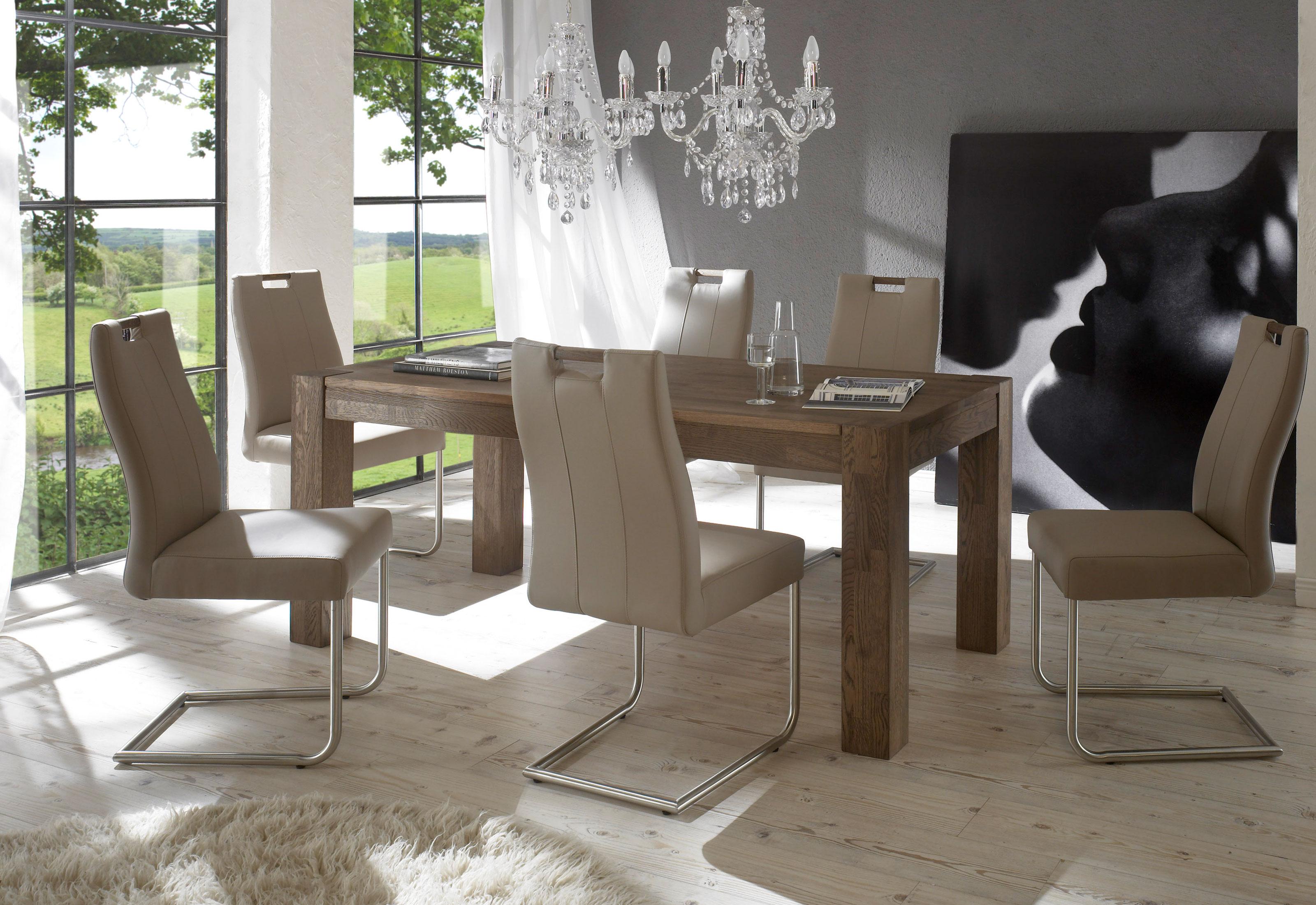 Standard Furniture Tischgruppe mit Esstisch Chelsea und Stühlen Jana