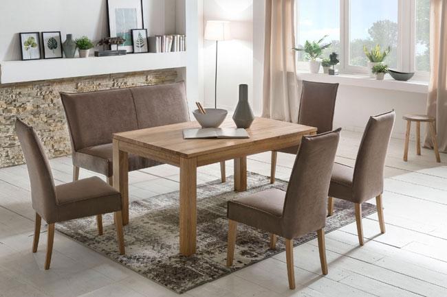 Standard Furniture Essgruppe mit Bank Kira und Tisch Toby